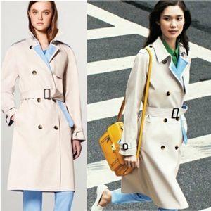 Philip Lim 3.1 Belted Khaki Coat with Blue Lining
